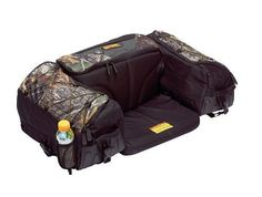 ATV DOUBLE STORAGE SEAT 4 WHEELER CAMEO ACCESSORIE SPACE OUTDOORS MUDDING RIDING #kolphin