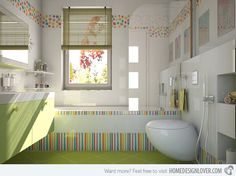 18 Colorful and Whimsical Kid's Bathroom