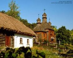 How traditional villages used to look in Ukraine