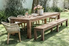 Crafted from Acacia wood, the Cassia range has natural variations in the wood, making each piece unique and full of character. Patio Dining, Dinning Table Design, Outdoor Lounge, Perfect Coffee Table, Stylish Furniture, Patio Style, Patio Dining Table, Outdoor Furniture Sets, Modern Bedroom Furniture