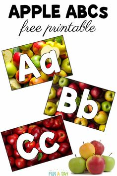 These fall alphabet apple cards have a host of learning activity possibilities! Grab your free printable and enjoy the included suggestions on how to use them for literacy, alphabet, fine motor, and even math activities. Preschool Apple Theme, Preschool Books, Free Preschool, Preschool Themes, Preschool Printables, Free Printables, Learning The Alphabet, Alphabet Activities, Math Activities