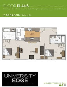 1000 images about floorplans amenities on pinterest lsu - 2 bedroom apartments in dc under 1000 ...