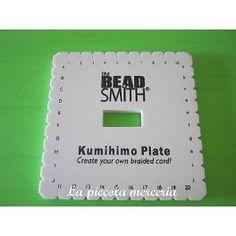 KUMIHIMO disco telaietto quadrato intreccio giapponese 15 cm con istruzioni