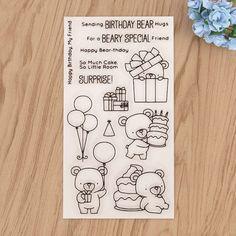 1.94AUD - Bears Wing Dinosaur Silicone Stamp Sticker For Diy Craft Diary Photo Album Decor #ebay #Home & Garden