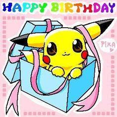 Happy Birthday Pokemon Card Lovely Gallery for Pikachu Birthday Card Printable Happy Birthday Pokemon, Birthday Pikachu, Happy Birthday Drawings, Happy Birthday Sister, Birthday Fun, Birthday Cards, Birthday Ideas, Birthday Memes, Mother Birthday