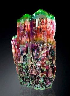 Colorful Tourmaline from  Golconda Mine, Minas Gerais, Brazil Credit:  Watzl Minerals  Amazing Geologist