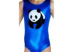 Gymnastics Leotards Girls Mystique Panda Bear by AEROLeotards, $42.98