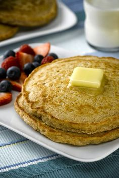 Weight Watchers 1pt Pancake - Best Ever! - after lots of searching I finally found a recipe for a LARGE, yummy, fluffy, high fiber, filling 1 pt pancake,,