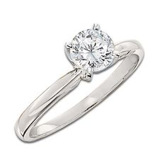 1-1/2 CT. Certified Diamond Solitaire Engagement Ring in 14K White Gold