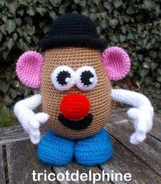 Crochet pattern toy Potato amigurumi tribute to Mister Crochet Daisy, Crochet Leaves, Crochet Mouse, Easter Crochet, Crochet Patterns Amigurumi, Amigurumi Doll, Crochet Doilies, Crochet Hooks, Amigurumi For Beginners