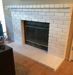 How to Repaint a Fireplace   Let's Eat Grandpa