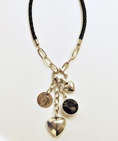 Another great find on #zulily! Silver & Black Necklace by Amabel Designs #zulilyfinds