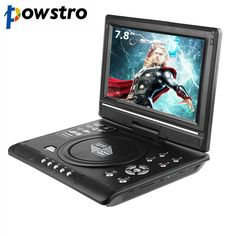 7.8 Inch Portable DVD Player Digital Multimedia Game Card Read Function VCD DVCD MP4 MP5