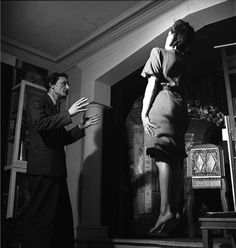 Guy Bert, a magician performing in Paris, 1947