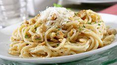 Spaguetti con frutos secos