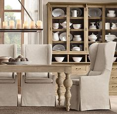 Slipcovered Wingback Dining Chair | | Restoration Hardware