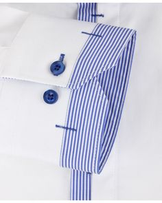 CLAUDIO LUGLI Mens White NARROW STRIPE TRIM SHIRT main image