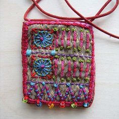 Embroidered pendant necklace (sorry-artist unknown)