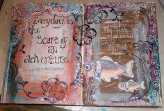 l'atelier: More Art Journaling pages ... & a sneak peek