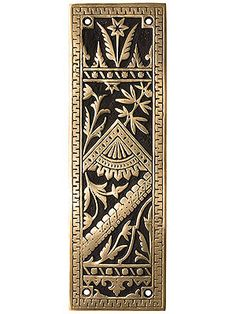 Reproduction Victorian Style Push Plate