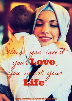 muslimah muslima islam sister muslim woman dreams goals faith courage personality hijab love children child parenting