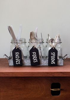 LOVE this silverware caddy idea!  SO cute!