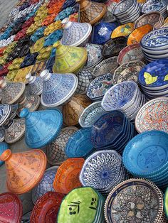 Tunisian pottery found in a bazaar in Sousse City