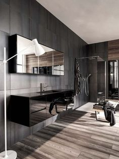 ComfyDwelling.com » Blog Archive » 84 Stylish Masculine Bathroom ...