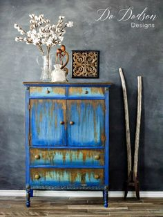 How to use oxidizing iron paint on second hand furniture. #secondhandfurniture