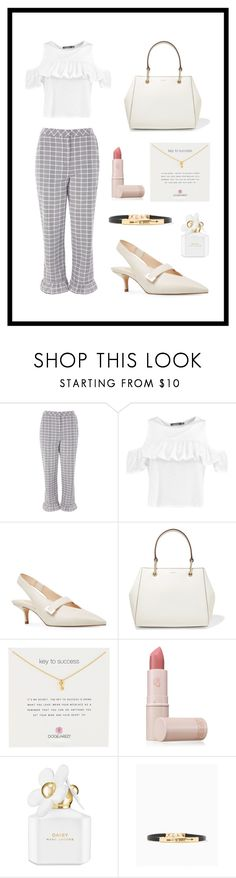 """Be Brave and Succeed"" by curlyelizabeth ❤ liked on Polyvore featuring Topshop, Boohoo, Nine West, DKNY, Dogeared, Lipstick Queen, Marc Jacobs and Brave"