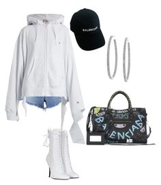 """""""Senza titolo #38"""" by hoscopatoconharry ❤ liked on Polyvore featuring T By Alexander Wang, Vetements, Balmain, Balenciaga and Sterling Essentials"""
