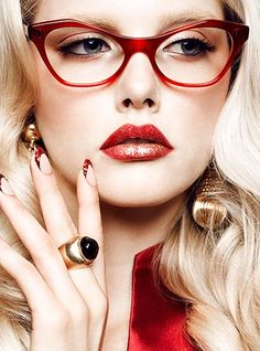 A great pair of red frames | GLOW magazine summer 2012