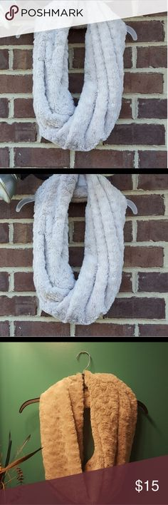 Bp plush infinity scarf Plush Faux fur infinity scarf cream color will keep you cozy adding a posh accent to your attire. bp Accessories Scarves & Wraps