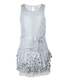 Take a look at this Alloy Sequin Dot Dress - Girls by RUUM on #zulily today!