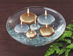 silver and gold candles