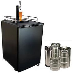 @Overstock - Entertain in style with this elegant beer keg dispenser. The dispenser keeps the beer from going flat for three months. Most mugs and beer glasses will fit under the tap, and casters allow you to easily wheel the dispenser into position at any venue.  http://www.overstock.com/Home-Garden/KeggerMeister-Beer-Refrigerator-Keg-Dispenser/4273849/product.html?CID=214117 $449.95