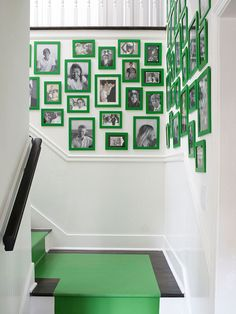 Green picture frames