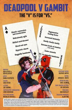 Preview: Deadpool vs. Gambit #1, Story: Ben Acker & Ben Blacker Art: Danillo Beyruth Cover: Kevin Wada Publisher: Marvel Publication Date: June 22nd, 2016 Price: $3.99  &nb...,  #All-Comic #All-ComicPreviews #BenAcker #BenBlacker #Comics #DanilloBeyruth #Deadpoolvs.Gambit #KevinWada #Marvel #previews