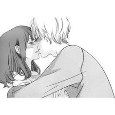 kiss, love, and manga image Anime Couples Drawings, Couple Drawings, Anime Couples Manga, Anime Couples Hugging, Anime Couple Kiss, Manga Couple, Manga Art, Manga Anime, Anime Art
