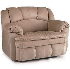 Oversized microfiber recliner because we all know andre for Catnapper jackpot reclining chaise 3989