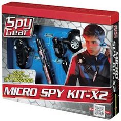 Spy Gear Micro Spy Kit X-2 by Wild Planet. $23.99. From the Manufacturer                Amazon Exclusive. Put on the utility belt and everything you need for your mission is within reach. See in the dark, communicate with fellow spies, hear far away, and even trap intruders. Spy Motion Alarm detects intruders - LED light invisible beam detects movement up to 5 feet. Spy Micro Listener hears far away sounds. Includes microphone ear bud, secret agent pen, micro-size note p...