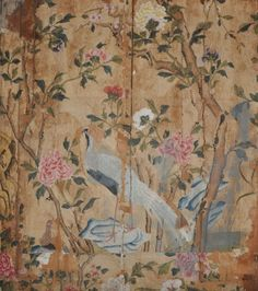 Peeling Back the Years. Fragments of Chinese wallpaper recently discovered in the 4th Duke's Bedroom at Woburn Abbey. ©Woburn Abbey