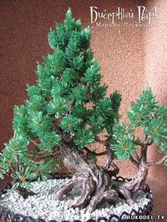 Мастер класс дерево сосна из бисера, для начинающих - Новый год - Подарки к праздникам - Каталог статей - Рукодел.TV