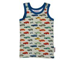 Tanktop - Dinky cars - Bollebuik Baby & Kinderstore