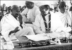 1938: SC Bose with Gandhiji and Sardar Patel