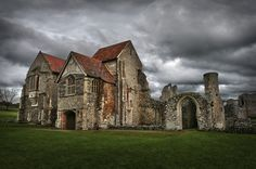 As I was walking all alone. Old Buildings, Abandoned Buildings, Abandoned Places, Architecture Old, Beautiful Architecture, English House, Romanesque, Beautiful Places, Beautiful Scenery