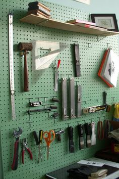 Organization style for the newly acquired old shed.