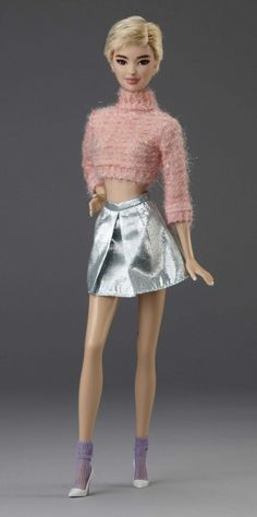 """BArbie Nineties New Era Collection by Carlyle Nuera """"Coral Fluffy Sweater"""" OOAK   eBay"""