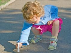 Crafts to Do with Kids — Sidewalk Chalk Edition - Craftfoxes