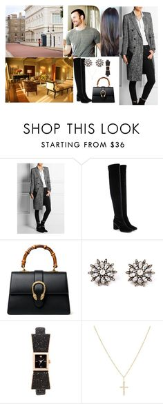 """""""Arriving in London at Clarence House For The four days with Henry"""" by pacqueline-ngoya ❤ liked on Polyvore featuring Yves Saint Laurent, Gucci, Kate Spade and Sydney Evan"""